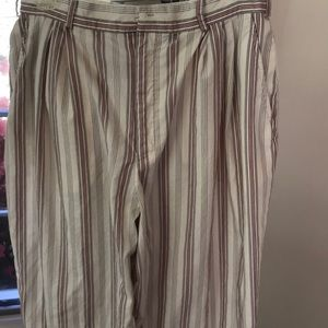 Cotton striped pant summer weight .Two  pockets